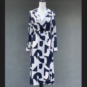 Vero Moda | Navy & White | Wrap Dress